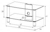 Sonorous TV-Möbel, TV-Racks, TV 32 zoll/inch - Sonorous - LF 6120-C-HBLK