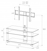Sonorous TV-Möbel, TV-Racks, TV 42 zoll/inch - Sonorous - NEO 1103-C-SLV