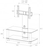 Sonorous TV-Möbel, TV-Racks, TV 37 zoll/inch -  Sonorous - NEO 95-C-HBLK