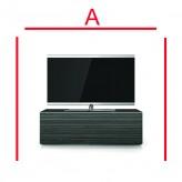 Lowboard Sonorous Elements EX10-FF-AMZ-AMZ-8-A - TV-Möbel mit Holzdekor Amazon und 2 Klapp-Türen