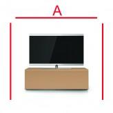 Lowboard Sonorous Elements EX10-FF-CPN-CPN-2-A - TV-Möbel mit Glasdekor Cappucino und 2 Klapp-Türen