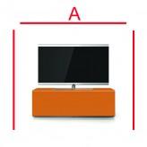 Lowboard Sonorous Elements EX10-FF-CPR-CPR-2-A - TV-Möbel mit Glasdekor Kupfer und 2 Klapp-Türen
