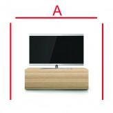 Lowboard Sonorous Elements EX10-FF-OAK-OAK-2-A - TV-Möbel mit Holzdekor Oak und 2 Klapp-Türen