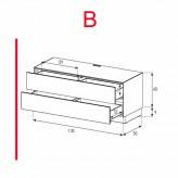 Lowboard Sonorous Elements EX10-DD-B - TV-Möbel mit 2 Schubladen / kombinierbar