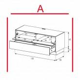 Lowboard Sonorous Elements EX10-FD-A - TV-Möbel mit Klapp-Tür und Schublade / kombinierbar