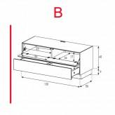 Lowboard Sonorous Elements EX10-FD-B - TV-Möbel mit Klapp-Tür und Schublade / kombinierbar