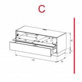 Lowboard Sonorous Elements EX10-FD-C - TV-Möbel mit Klapp-Tür und Schublade / kombinierbar