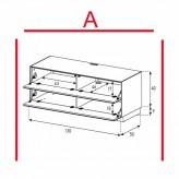 Lowboard Sonorous Elements EX10-FF-A - TV-Möbel mit 2 Klapp-Türen / kombinierbar