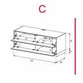 Lowboard Sonorous Elements EX10-FF-C - TV-Möbel mit 2 Klapp-Türen / kombinierbar