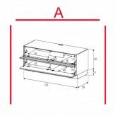 Lowboard Sonorous Elements EX10-TF-A - TV-Möbel mit stoffbezogener Klapp-Tür und Klapp-Tür / kombinierbar