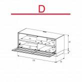 Lowboard Sonorous Elements EX10-TS-D - TV-Möbel mit stoffbezogener Klapp-Tür / kombinierbar