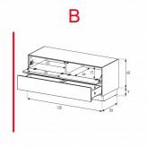 ex12 fd lowboard mit klappt r und schublade. Black Bedroom Furniture Sets. Home Design Ideas
